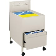 Tub File with Locking Drawer, Putty, 26 Deep, Legal Size - 28H x 20W