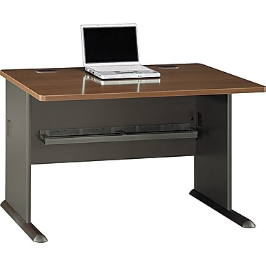 Bush Cubix 48in. Desk, Cappuccino Cherry/Hazelnut Brown, Fully assembled