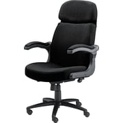 Tiffany Industries™ Big & Tall Acrylic/Polyester Executive Swivel/Tilt Chair with Pivot Arms, Black