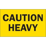 Caution Heavy Special Handling Label, 3 x 5