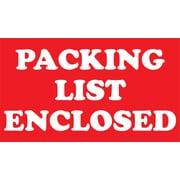 "Staples Packing List Enclosed Special Handling Label, 03""H x 05""W, 500/Roll (DL1184)"