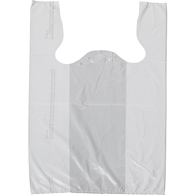 White T-Shirt Bags, 11 1/2in. x 8in. x 18in.
