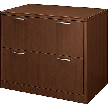 Hon®  Attune Series Lateral File, Two-Drawer, Shaker Cherry