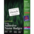 "Avery® EcoFriendly White Multipurpose Name Badge Labels, 2 1/3"" x 3 3/8"", 400/Pack"