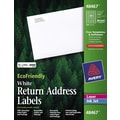 Avery® 48467 EcoFriendly White Inkjet/Laser Return Address Labels 1/2in. x 1-3/4in., 8,000/Box