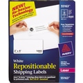 Avery® Repositionable White Laser Shipping Labels