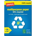 Staples® 50% Recycled Multipurpose Paper, 8 1/2in. x 11in., Ream