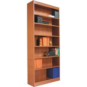 Alera 2-Shelf Radius Corner Wood Veneer  Bookcase, Medium Cherry