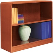 Alera 2-Shelf Radius Corner Wood Veneer Bookcase, Medium Oak