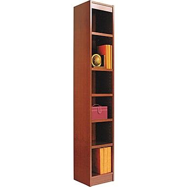 Alera 6-Shelf Square Corner Wood Veneer  Bookcase,  Medium Cherry, 12in. Wide