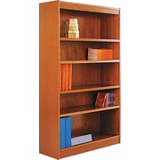 Alera 6-Shelf Square Corner Wood Veneer  Bookcase,  Medium Cherry