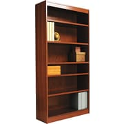 Alera 6-Shelf Square Corner Wood Veneer  Bookcase,  Mahogany