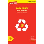 Staples® 30% Recycled Copy Paper, 11 x 17,  Ream