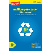 Staples® 50% Recycled Multipurpose Paper, 11 x 17, Ream