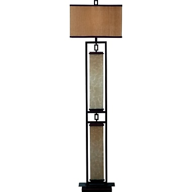 Kenroy Plateau Incandescent Floor Lamp, Oil Rubbed Bronze
