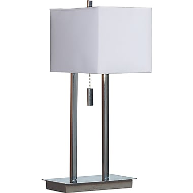 Kenroy Home Emilo Accent Table Lamp, Chrome