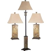 Kenroy Home Bennington Lamp Set, Natural Slate, 3/Pack