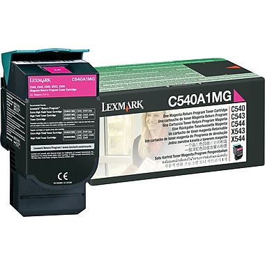 Lexmark C540A1MG Magenta Return Program Toner Cartridge
