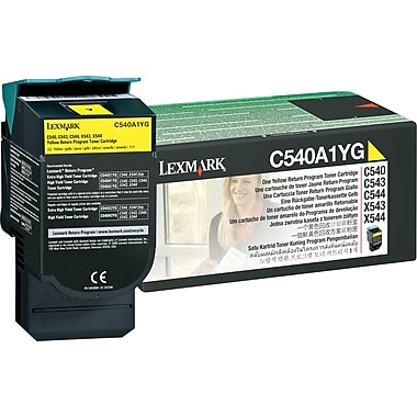 Lexmark C540A1YG Yellow Return Program Toner Cartridge