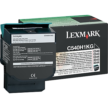 Lexmark™ C540H1KG Black Toner Cartridge, Return Program, High Yield