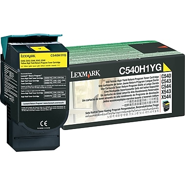 Lexmark Yellow Toner Cartridge (C540H1YG), High Yield, Return Program