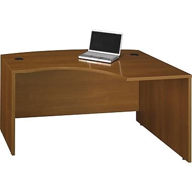 Bush Westfield 60in.W x 43in.D RH L-Bow Desk Shell, Cafe Oak