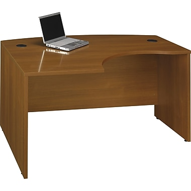 Bush Westfield Left L-Bow-Front Desk, Warm Oak