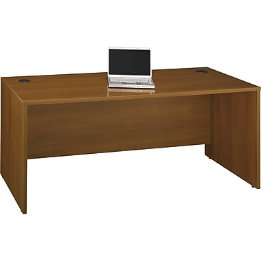 Bush Westfield 72in. Desk, Warm Oak, Fully assembled