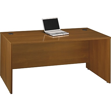 Bush Westfield 66in. Manager's Desk, Cafe Oak, Fully assembled