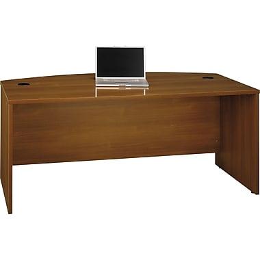 Bush Westfield Bow Front Desk, Cafe Oak, Fully assembled