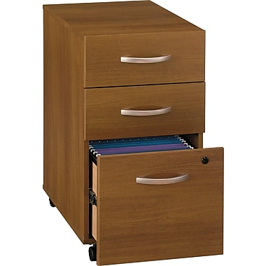 Bush Westfield 3-Drawer File, Warm Oak