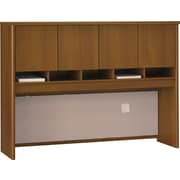Bush Westfield 60 4-Door Hutch, Cafe Oak, Fully assembled