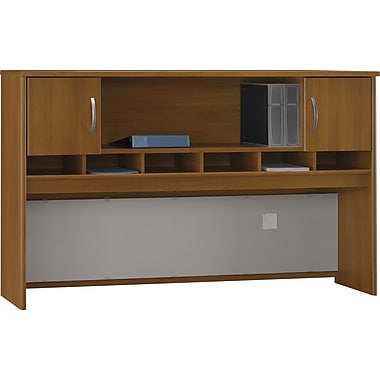Bush Westfield 72in. 2-Door Hutch, Warm Oak, Fully assembled