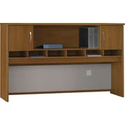 Bush Westfield 72W 2 Door Hutch, Cafe Oak
