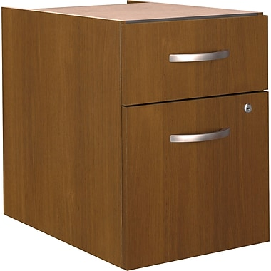 Bush Westfield 3/4 Pedestal File, Warm Oak, Fully assembled
