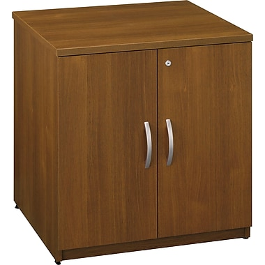 Bush Westfield 30in. Storage Cabinet, Warm Oak, Fully assembled