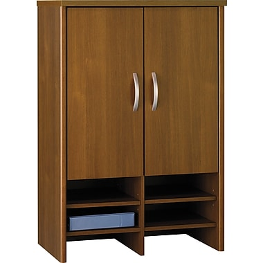 Bush Westfield 30in. Storage Hutch, Warm Oak, Fully assembled