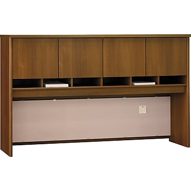 Bush Westfield 72in. 4-Door Hutch, Cafe Oak, Fully assembled