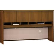 Bush Westfield 72W 4 Door Hutch, Cafe Oak