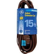 GE 15' Polarized Indoor Extension Cord, Brown
