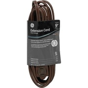 GE 9' Polarized Indoor Extension Cord, Brown