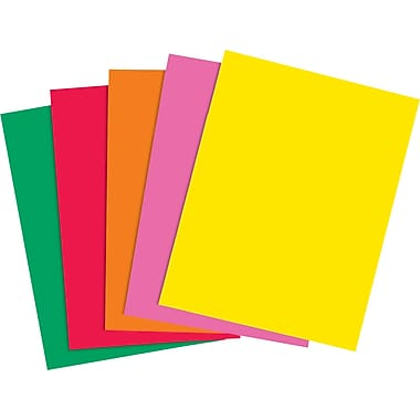 Staples® Brights 24 lb. Colored Paper, Assorted Colors