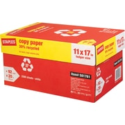 Staples® 30% Recycled Copy Paper, 11 x 17, Case
