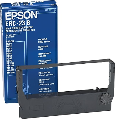 Epson ERC 23B Black Nylon Cash Register Ribbon