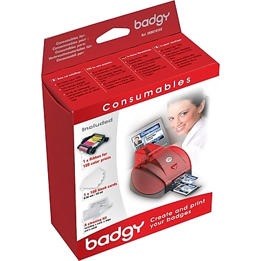 Badgy Plastic Card Consumable Kit by Evolis