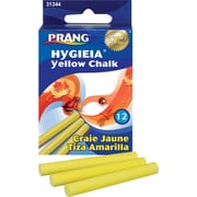 Prang® Hygieia® Chalk, Yellow, 12/Pack
