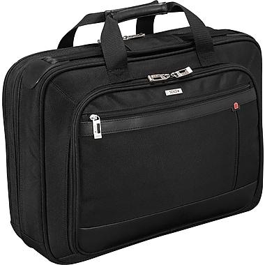 SOLO® Smart Strap™ Portfolio Laptop Case, Black, 15.4in.