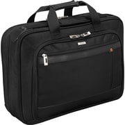 SOLO® Smart Strap™ Portfolio Laptop Case, Black, 15.4