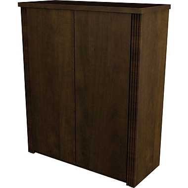 Bestar Prestige+ 2-Door Cabinet, Chocolate