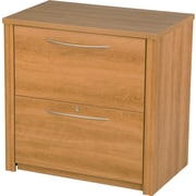 Bestar Embassy Lateral File (Ready to Assemble), Cappuccino Cherry